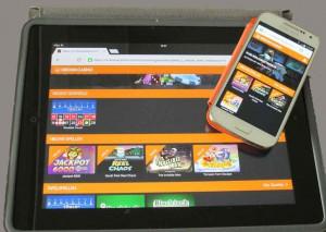 spelen met tablet en smartphone