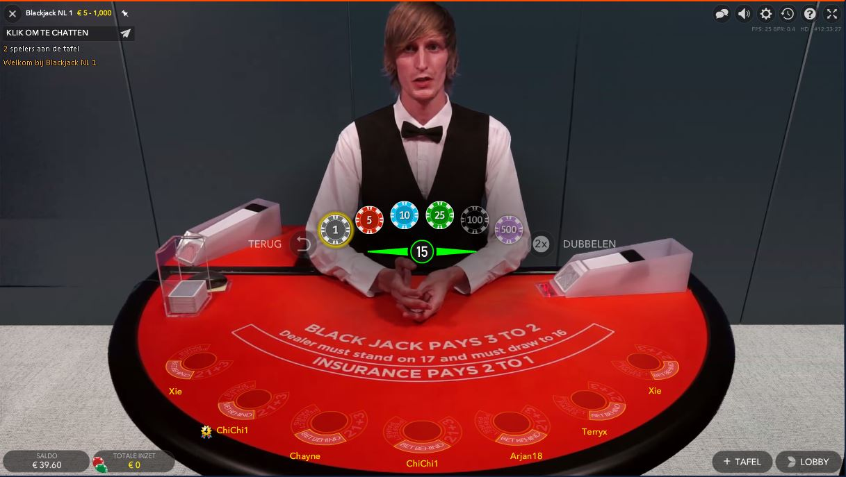 Blackjack Live casino