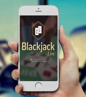 Blackjack spelen met een app