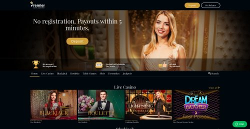 blackjackonline.nl casino review screenshot Premier Live Casino