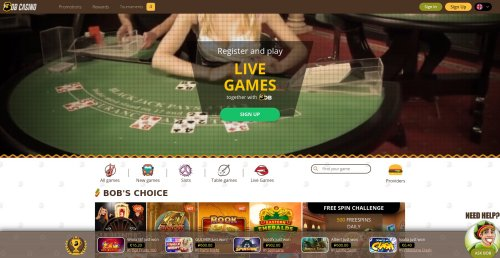 blackjackonline.nl casino review screenshot Bob casino