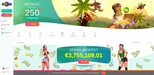 blackjackonline.nl casino review screenshot Spinia