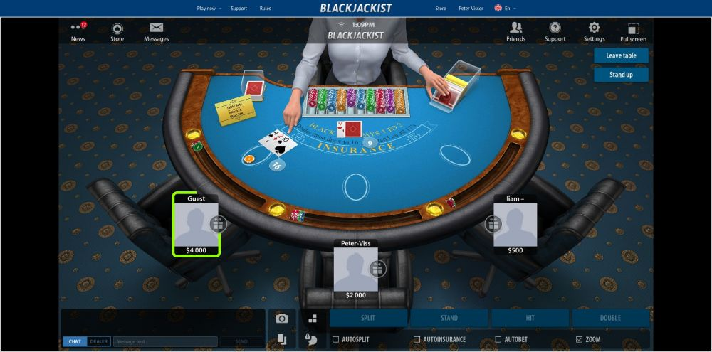 speel blackjack online multiplayer gratis bij Blackjackist