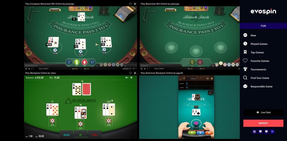 Blackjackonline.nl - tot wel 4 blackjack tafels tegelijkertijd spelen